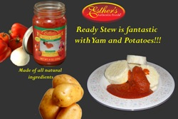 Readystew with yams and potatoes